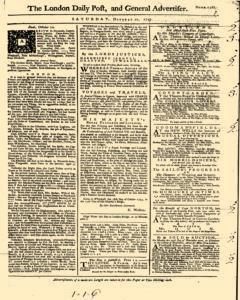 London Daily Post and General Advertiser, October 22, 1743, Page 2