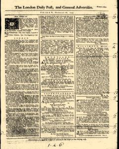 London Daily Post And General Advertiser, October 28, 1743, Page 1