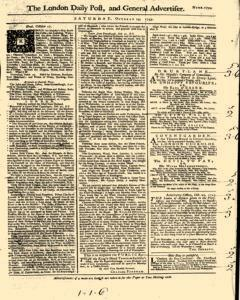 London Daily Post And General Advertiser, October 29, 1743, Page 1