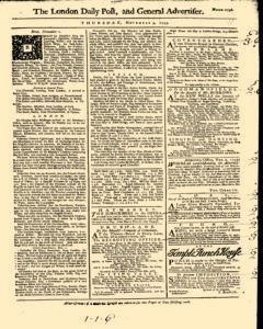 London Daily Post And General Advertiser, November 03, 1743, Page 1