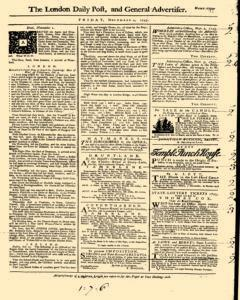 London Daily Post And General Advertiser, November 04, 1743, Page 1