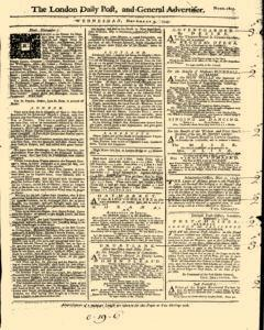 London Daily Post And General Advertiser, November 09, 1743, Page 1