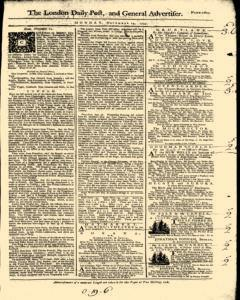London Daily Post And General Advertiser, November 14, 1743, Page 1