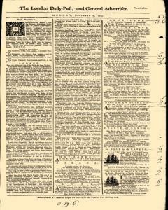 London Daily Post and General Advertiser, November 14, 1743, Page 2