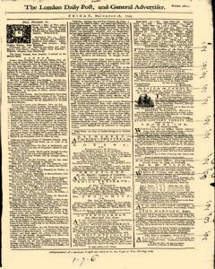 London Daily Post And General Advertiser, November 18, 1743, Page 1