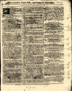 London Daily Post And General Advertiser, November 19, 1743, Page 1