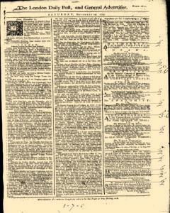 London Daily Post and General Advertiser, November 19, 1743, Page 2