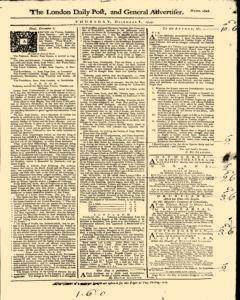 London Daily Post And General Advertiser, December 08, 1743, Page 1