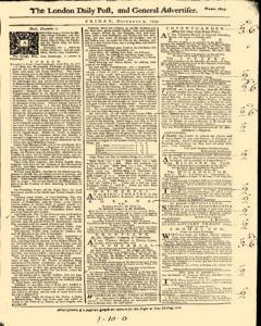 London Daily Post And General Advertiser, December 09, 1743, Page 1