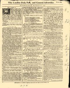 London Daily Post and General Advertiser, December 21, 1743, p. 2