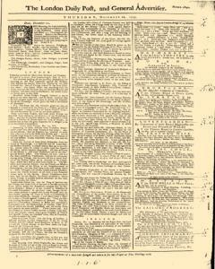 London Daily Post And General Advertiser, December 22, 1743, Page 1