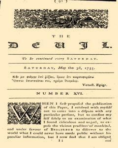 London Devil, May 03, 1755, Page 1