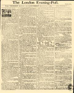 London Evening Post, January 10, 1765, Page 1