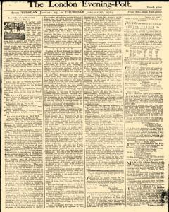 London Evening Post, January 15, 1765, Page 1
