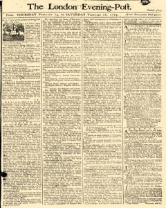 London Evening Post, February 14, 1765, Page 1