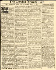 London Evening Post, March 07, 1765, Page 1
