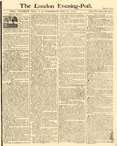 London Evening Post, April 02, 1765, Page 1