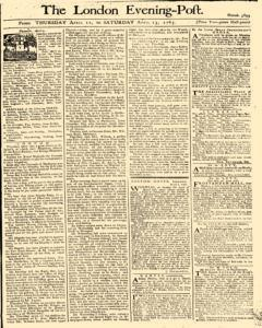 London Evening Post, April 11, 1765, Page 1