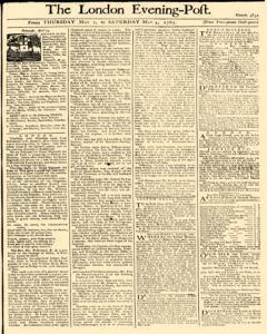 London Evening Post, May 02, 1765, Page 1