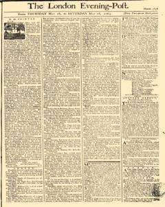 London Evening Post, May 16, 1765, Page 1