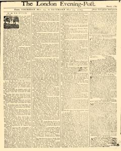 London Evening Post, May 23, 1765, Page 1
