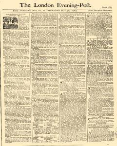 London Evening Post, May 28, 1765, Page 1