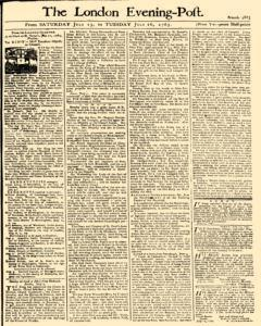 London Evening Post, July 13, 1765, Page 1
