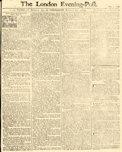 London Evening Post, August 13, 1765, Page 1