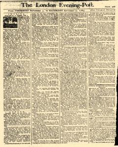 London Evening Post, September 05, 1765, Page 1