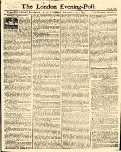 London Evening Post, September 14, 1765, Page 1