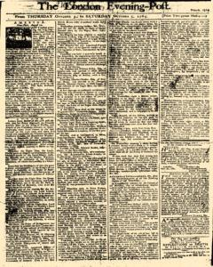 London Evening Post, October 03, 1765, Page 1