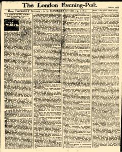 London Evening Post, October 17, 1765, Page 1