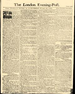 London Evening Post, October 24, 1765, Page 1