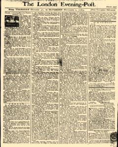 London Evening Post, October 31, 1765, Page 1