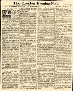 London Evening Post, November 02, 1765, Page 1