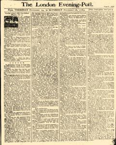 London Evening Post, November 14, 1765, Page 1