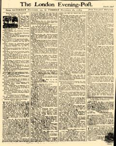 London Evening Post, November 23, 1765, Page 1