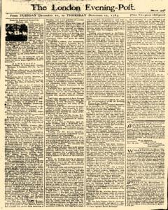 London Evening Post, December 10, 1765, Page 1
