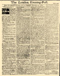 London Evening Post, December 21, 1765, Page 1
