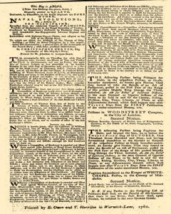 London Gazette, January 16, 1762, Page 4