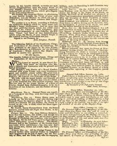 London Gazette, January 23, 1762, p. 2