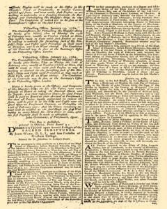 London Gazette, January 23, 1762, p. 3