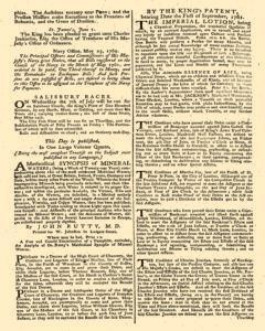 London Gazette, May 29, 1762, Page 2