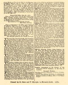 London Gazette, June 26, 1762, Page 4