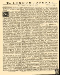 London Journal, May 18, 1728, Page 1