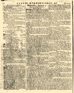 London Lloyd Evening Post, January 02, 1764, Page 4