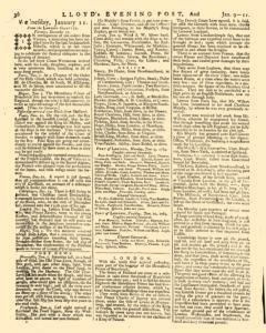 London Lloyd Evening Post, January 09, 1764, Page 4