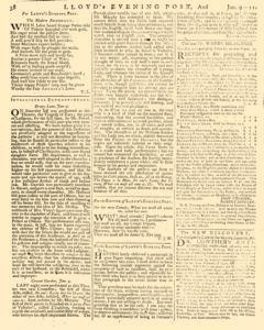 London Lloyd Evening Post, January 09, 1764, Page 6