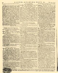 London Lloyd Evening Post, January 09, 1764, Page 8