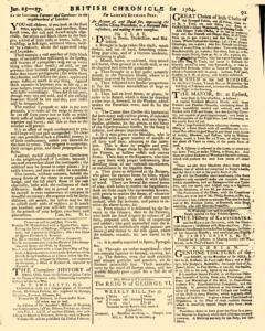 London Lloyd Evening Post, January 25, 1764, Page 3
